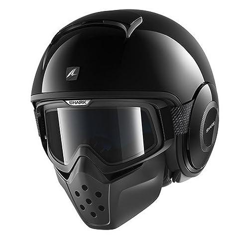 HE3010EBLKXL - Shark Raw Blank Motorcycle Helmet XL Black (BLK)