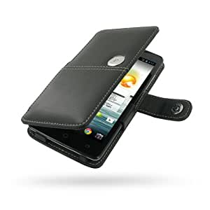 Acer Liquid S1 S510 Leather Case / Cover (Handmade Genuine Leather) - Book Type (Black) by Pdair