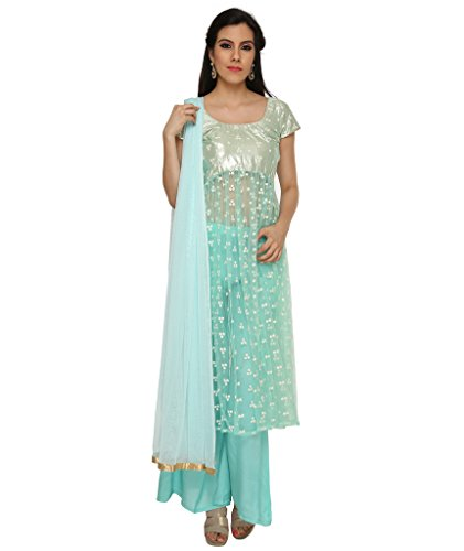 Ras Women's Shantoon Anarkali Salwar kameez & Suits (RAS_IN028_Blue_Medium)