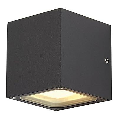 SLV Sitra Cube Wandleuchte, GX53, maximal 9 W, anthrazit 232535 von SLV auf Lampenhans.de