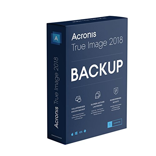 Acronis True Image 2018 1license(s) Tedesca