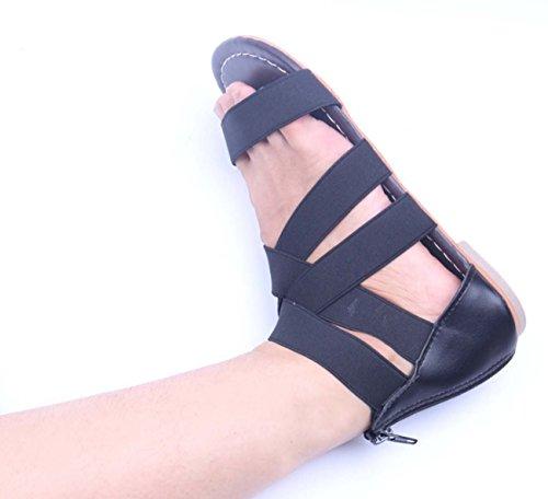 Piede Black elastica Casual Leggero Romano Il Cross Ballerine Donne Antiscivolo Comfort FARALY Banda Scarpe Sandalo Aprire Zq4w48