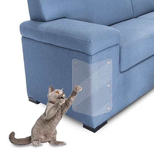 Heimtierbedarf Möbel Kratzschutz, Cat Pet Scratch Couch Protector Anti Scratching Pads Klar Vinyl Selbstklebend, 2 Stück Für Möbel Sofa Couch Chair, 47 X 15 Cm Geeignet für Katzen und Hunde