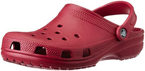 Crocs Classic, Zuecos Unisex Adulto, Rosa (Pomegranate), 45/46 EU
