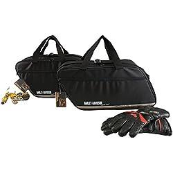 made4bikers Promotion: Bolsas Interiores Adecuado para de los Modelos Harley-Davidson Road King, Road-, Street- & E-Glide Maleta de plástico