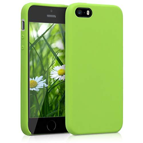 kwmobile Funda compatible con Apple iPhone SE / 5 / 5S - Carcasa de TPU para móvil - Cover trasero...