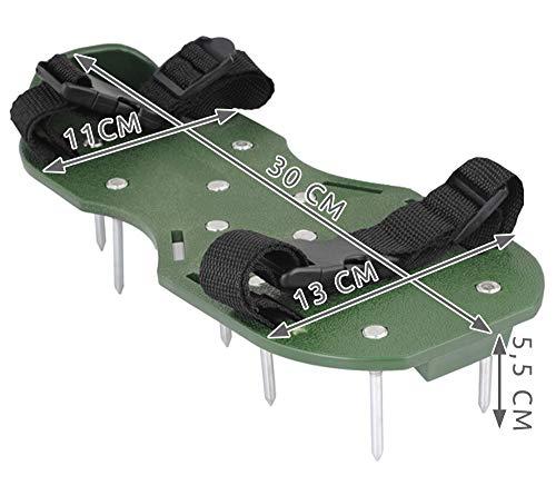Iso Trade Rasenlüfter Schuhe Rasenbelüfter Sandalen 6cm Bodennägel Grün Universal #4220