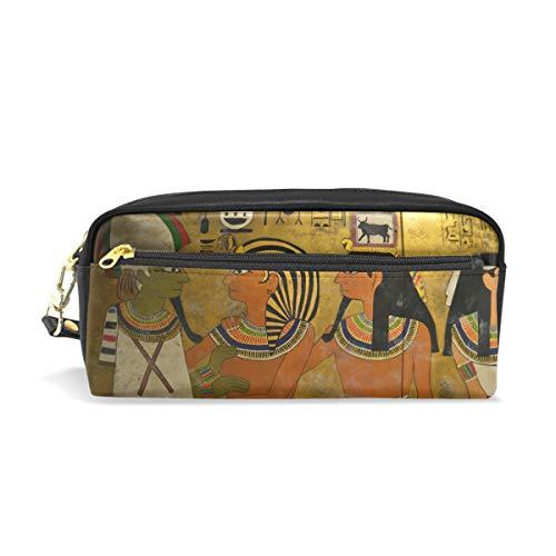 Federmäppchen mit großer Kapazität, Vintage, antike ägyptische Stiftebeutel mit Reißverschluss