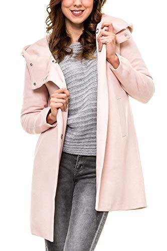 ONLY Damen Kurzmantel mit Kapuze Übergangsjacke (38 (Herstellergröße: M), Rose Smoke/Melange)