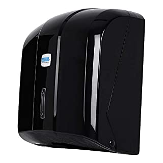 Aviva Clean Paper Dispenser Paper Hand Towel Dispenser Black 400 Sheets Also Suitable for Practices and Hospitals