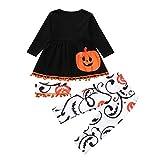 VICGREY Neonata Manica Lunga Completini, Bambino Halloween Abiti Vestito, Toddler Bambino Baby Girls Zucca Ghost Print Abito Abiti Costume Pantaloni Bambina di Halloween