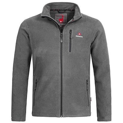 Höhenhorn Eigler Herren Fleece Jacke Full Zip Outdoor Wander Trekking (XL, Grau)