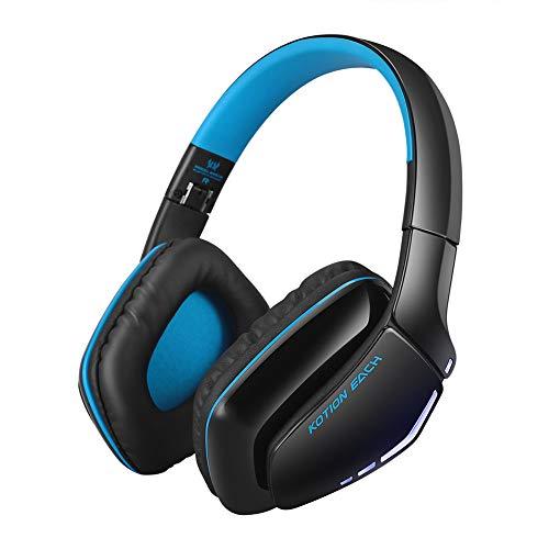 G0O03q3e Kotion Bluetooth-Kopfhörer, kabellos, Bluetooth, Geräuschunterdrückung, Gaming-Kopfhörer mit Mikrofon Schwarzblau Sony Wireless-hi-fi