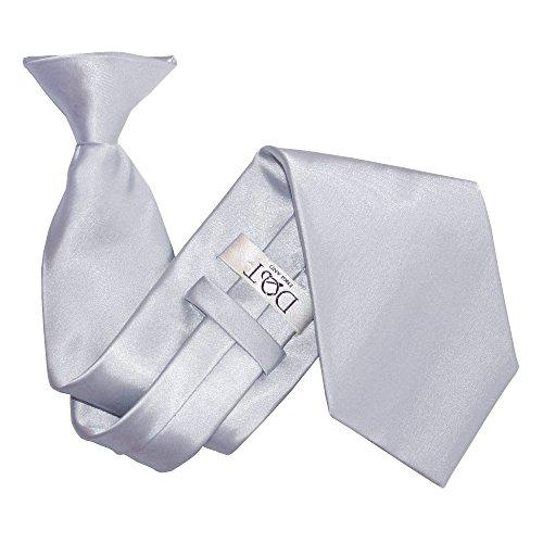 Nouveauté DQT Pince-Cravate Unie Homme Haute Qualité Argent