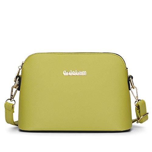HQYSS Borse donna A tracolla in pelle Donne PU Messenger Bag di colore solido Collegio Vento Crossbody Bag Shell , rose red yellow green