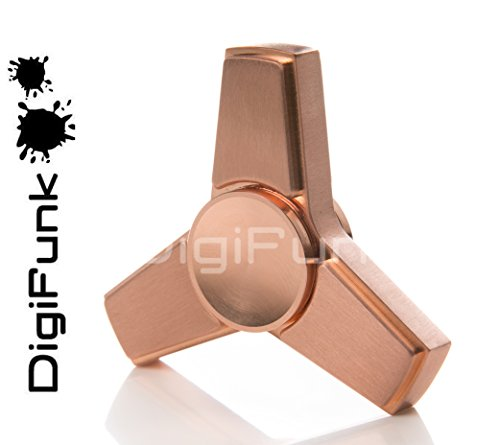 Preisvergleich Produktbild Tri Fidget Spinner DigiFunk® | 100% Messing / Kupfer Metall | r188 Hybrid Ceramic Bearing | 5+ Minute Spins | EU Retailer & Customer Service …