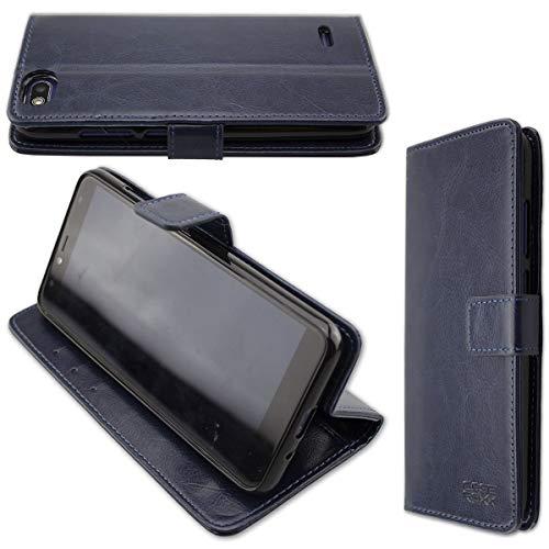 caseroxx Hülle/Tasche Bookstyle-Case Gigaset GS100 Handy-Tasche, Wallet-Case Klapptasche in blau