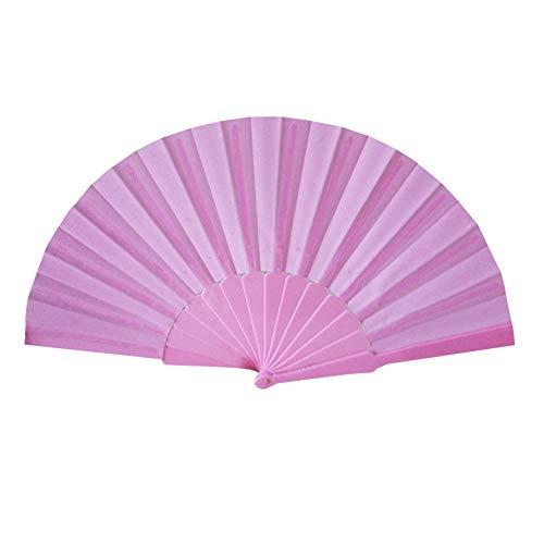 r Fächer Falten Fans Faltfächer Klappfächer Taschenfächer Japanische Fächer, Muster Falttanz Hochzeit Party Lace Silk Folding Hand Solid Color Fan ()