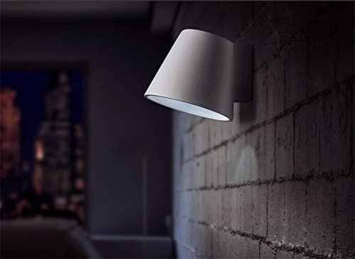 BIUODY Lampada da parete Parete moderna luci lampada parete camera da letto soggiorno scala corridoio illuminazione intonaco bianco parete lampada da parete applique LED