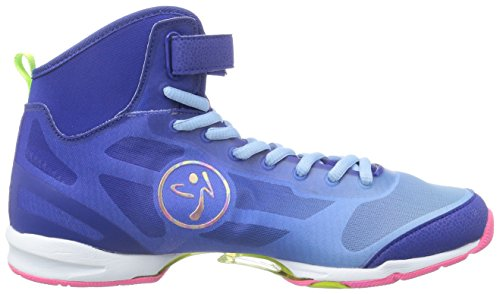 Zumba Footwear Zumba Flex II High, Damen Hallenschuhe, Blau (Blue/Pink), 42 EU (7.5 Damen UK) -