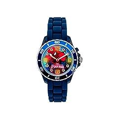 Idea Regalo - Orologio per bambini al quarzo con quadrante analogico multicolore e cinturino in gomma blu, motivo: Spiderman, SPD3415