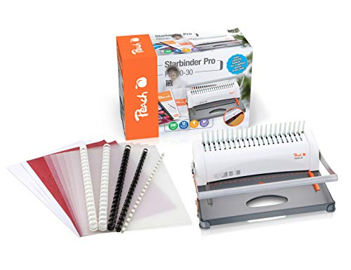 Peach pb200-30 - Encuadernadora en espiral de plástico + Set de inicio