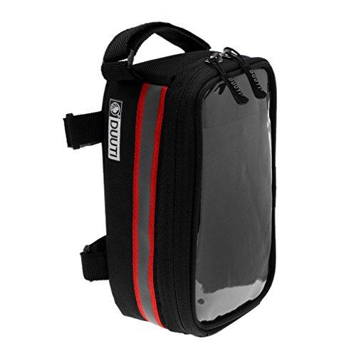 b8ed724cd8555 MagiDeal MTB Bike Fahrradgepäcktasche Pannier Steuerrohr Tasche Werkzeug  Beutel mit Reflexstreifen