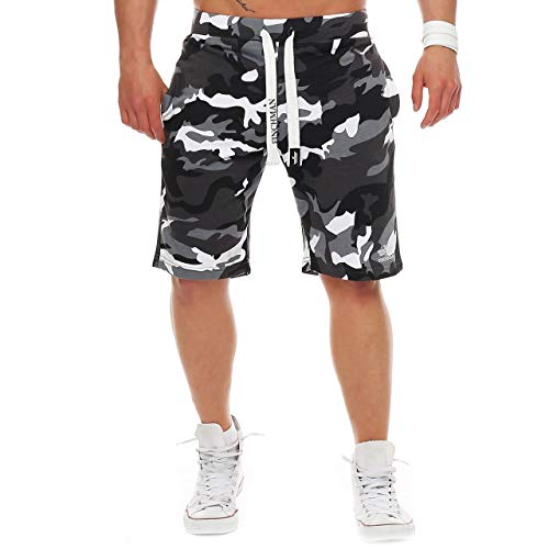 Finchman FM191 Herren Cotton Sweat Short Camo Grau 4XL