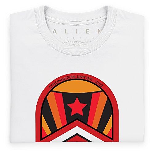 Official Alien: Covenant Crew Origae-6 Logo Langarmshirt, Herren Wei