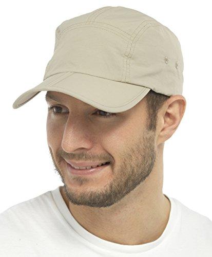 Tom Franks Leicht Kappe mit Zusammenfaltbar Visier - Beige, Einheitsgröße, One Size (Express Baseball)