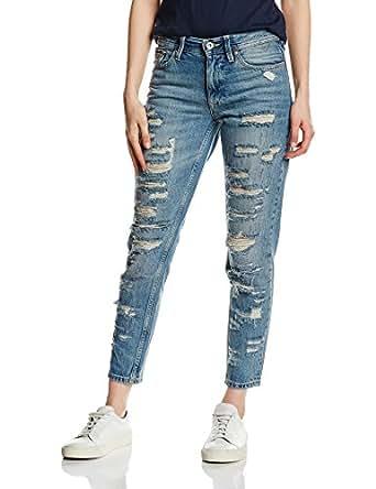 Hilfiger Denim Damen Boyfriend, Jeans da donna, Blu (CERULIAN DESTRUCTED-EUR 555), W28/L32