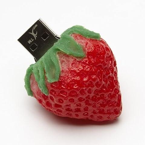 Funny Design USB Stick by aricona – Form Erdbeere 8 GB, schneller USB 2.0/1.1, coole, lustige Figur Speichersticks mit Plug&Play, originelle, witzige Motiv Sticks, das besondere Geschenk