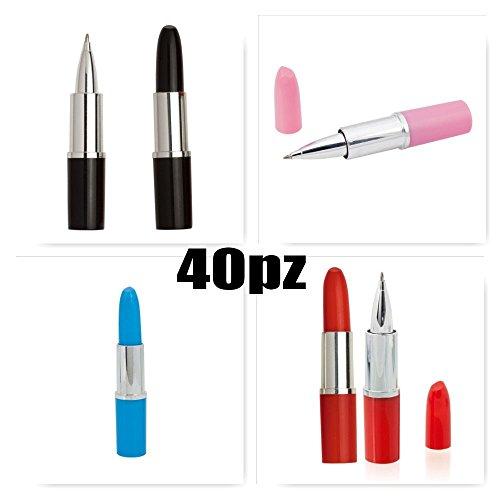 40 PEZZI Simpatica penna a forma di rossetto