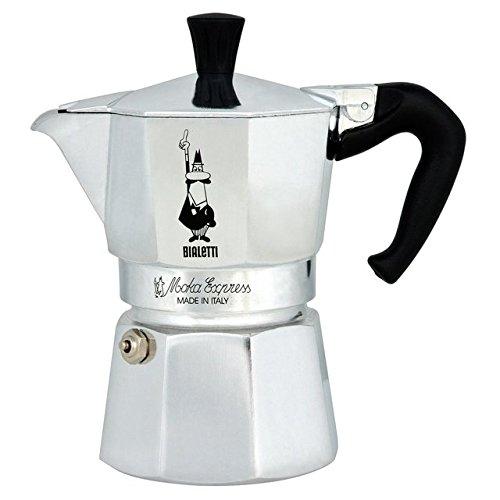 Bialetti Moka Expresso Maker-3-Cup, Silber