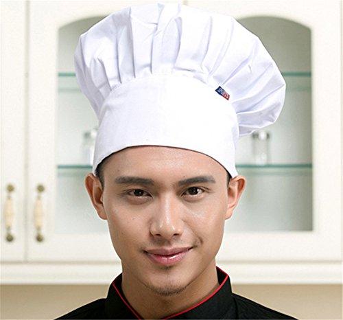 Interesting® Cocinero cómodo ajustable Cocina unisex Baker chef sombrero de  gorro elástico Sombreros de catering 1b5d2a4bf33