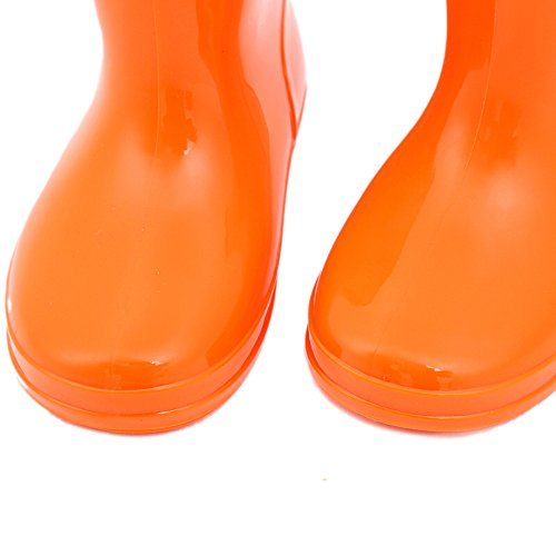 Bwiv Kleinkinder Gummistiefel Naturkautschuk Licht Regenstiefel 3 Farben Gr 20-28 Orange