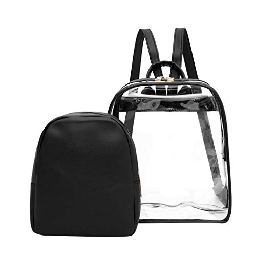 Qiuday Laptop Rucksack, Geschäftsreisen, College, Frauen, Mädchen Damen transparent Brief Rucksack Mini Persönlichkeit Kleiner Transparente transparente Tasche für Kinder, Kindertasche neu