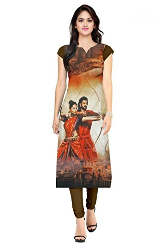 Desney Fashion straight crepe fabric printed bahubali kurti(BGT_bahubali_02)