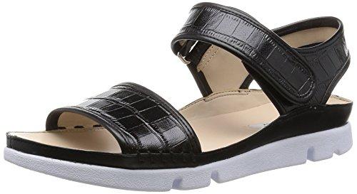 Clarks Tri Nova, Damen Slingback Sandalen, Schwarz (Black Leather), 39 EU (5.5 Damen UK)