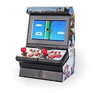Blue-Yan Consola de Juegos Mini Arcade, Consola de Videojuegos portátil de 4,3 Pulgadas para Adultos de niños, Juegos 300 clásicos incorporados