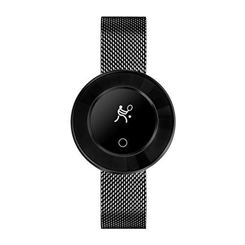 12shage Bluetooth Smart Watch Fitness Tracker Armband Sport Uhr Pulsuhren Schrittzähler mit IP68 Wasserdicht (22mm Aluminium-uhrenarmband)