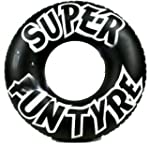 NEW XL INFLATABLE RING BLACK TYRE SWI...