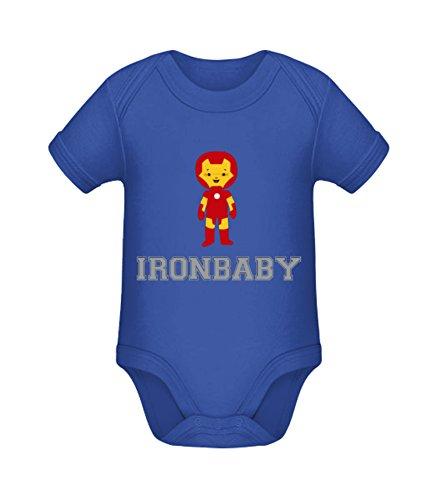 Babybody mit Aufdruck | Ironbaby | Strampler Babybody von Shirtinator® Cobalt Blue 0-3 mths (Kleinkind-kleidung Lustige)