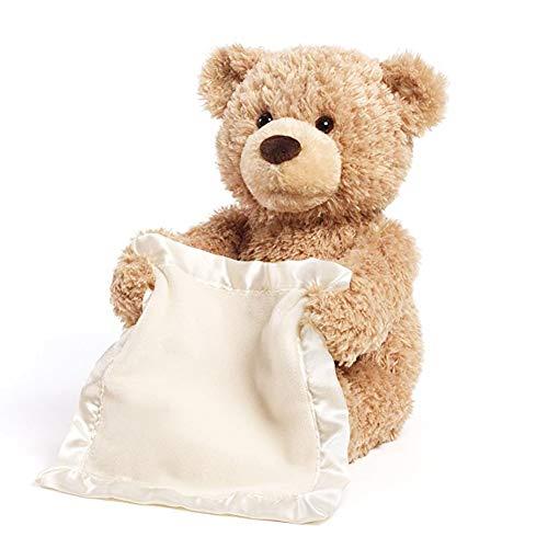 Shi Ran Peek a Boo Bear, Teddybär, Peekaboo, Bär, Kinderspielzeug, 30 cm, kann sprechen, Sich bewegen, lustig, Bewegung, Baby, Helfer (Teddybär Lustig)