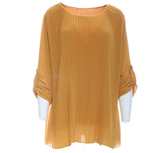 Candy Clothing -  Maglia a manica lunga  - Donna Mustard