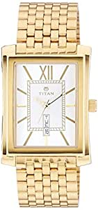 Titan Silver Dial Analogue Watch for Men (90023YM03)