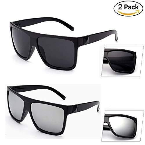 Preisvergleich Produktbild Retro Large Frame Driving Sonnenbrille Mens Womens Unisex - Neue stilvolle Oversized UV400 Eyewear Paar Liebhaber HD Sonnenbrille So cool (Schwarz + Weiß)