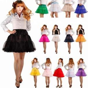 Boolavard 18″ 50s Retro Underskirt Swing-Klassiker Mini Petticoat Fancy Net Tulle Unterrock Rocke Rockabilly Tutu (L-XXL (EU 42-50), Schwarz) - 5