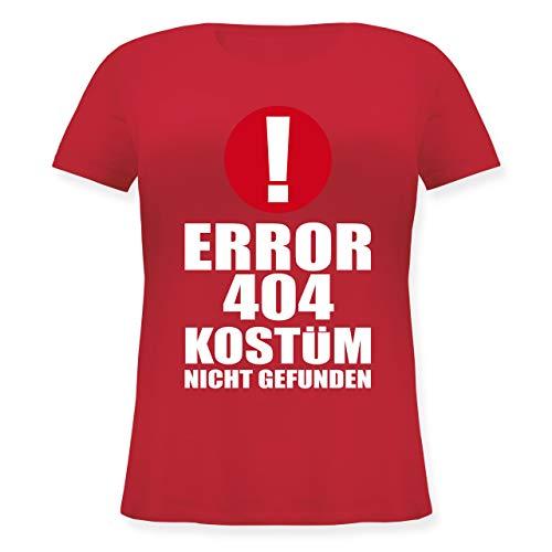 Karneval & Fasching - Error 404 Kostüm Nicht gefunden - L (48) - Rot - JHK601 - Lockeres Damen-Shirt in großen Größen mit Rundhalsausschnitt
