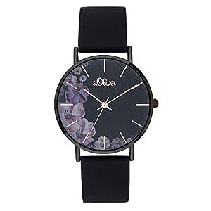 s.Oliver Damen Analog Quarz Uhr mit Silicone Armband